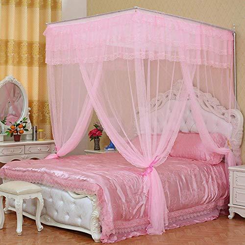 K.W Estudiante Superior Mosquitera Plaza Home Dormitorio Simple Mosquito Net Inicio Ocio Mosquitera Crema Color de 1,8 Metros (sin Soporte) Lili (Color : Pink, Size : 2 Meters (Without Bracket))