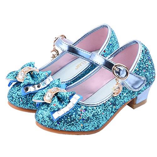 Zapatos de Tango Latino para Niños Vestir Fiesta Arco Princesa Sandalias Perla Rhinestone Lentejuelas Zapatitos de Tacón Bebé Niña Pri Zapatos de Vestir Zapatos Tacon de comunion niña
