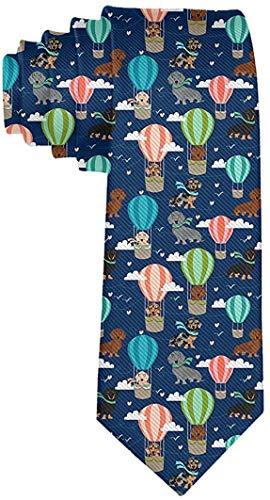 Smalaty dakshond Hot Air Balloon dogs heren polyester textiel necties voor huwelijken prom nectie