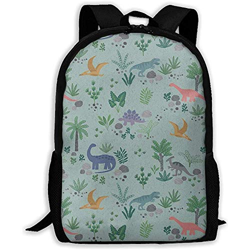 Kimi-Shop Mochila Escolar Dinosaur World 3D Adult Outdoor Leisure Mochila Deportiva