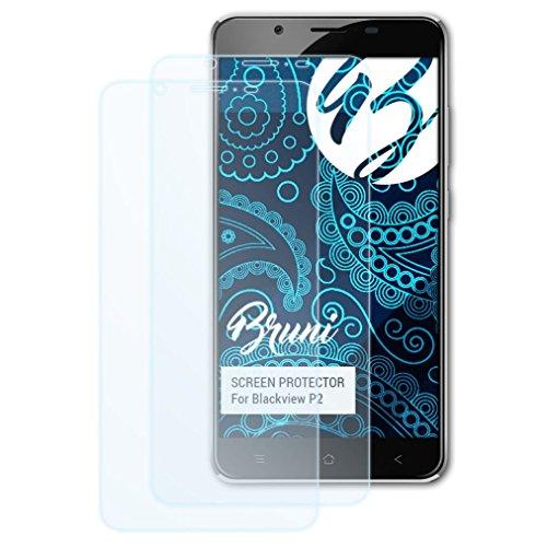 Bruni Schutzfolie kompatibel mit Blackview P2 Folie, glasklare Bildschirmschutzfolie (2X)