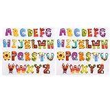 Healifty 2 Hojas de Hierro Lindo en Parches de Apliques Letras Alfabeto Pegatinas de Transferencia de Calor para Ropa Chaquetas Sombreros Mochilas Jeans PET