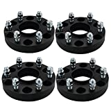 4pc 6x5.5 Hubcentric Wheel Spacers Compatible with Chevy GMC 6 Lug, 1.25' Wheel Spacers with 14x1.5 Studs for 1999-2020 Silverado 1500,1995-2020 Tahoe, Yukon Savana Sierra 1500
