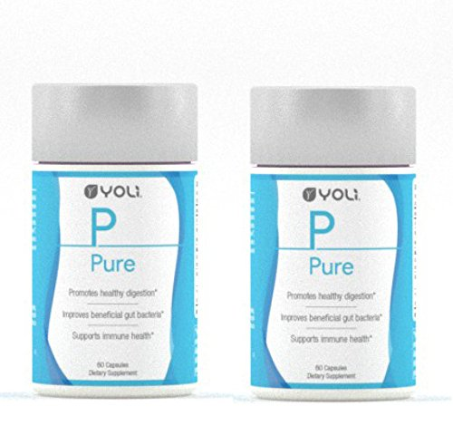 Yoli Pure - Digestive Capsules - Probiotics and Fiber That Supports Gastrointestinal Health (2 Bottles)