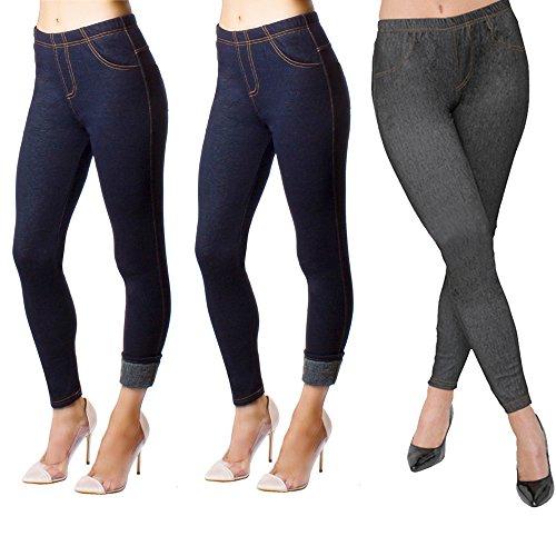 2X Girls Print Leggings Fashion Stretchy Pants Casual Jegging Blue Black Kid S//M