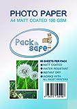 Packitsafe 1000 hojas A4 190 GS M papel fotográfico profesional acabado mate 210 x 279 mm 190MA1000