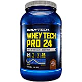 BodyTech Whey Tech Pro 24 Protein Powder Protein Enzyme Blend with BCAA's to Fuel Muscle Growth Recovery, Ideal for PostWorkout Muscle Building Rich Chocolate (2 Pound)