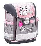 Belmil Ergonomischer Schulranzen Mädchen 1. klasse 2. klasse 3. klasse - Super Leichte 900-960 g/Grundschule/Katze Cat/rosa grau (403-13 Cute Caty)