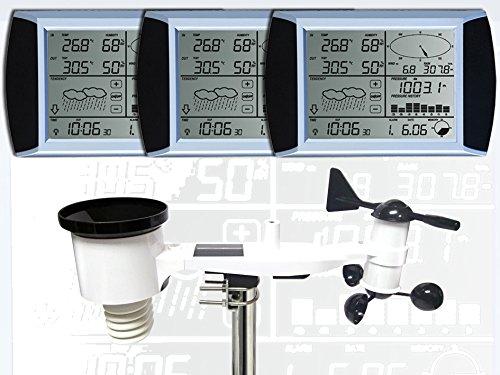 Froggit WH1080 se Triple (3 pantallas) estación meteorológica profesional SOLAR pantalla táctil USB (nuevo exterior mástil)