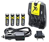 Best Xit Rechargeable Batteries - Xit AA/AAA AC/DC Rapid Battery Charger with 4 Review