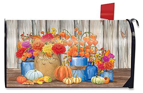 Briarwood Lane Fall Mason Jars Floral Magnetic Mailbox Cover Primitive Autumn Standard