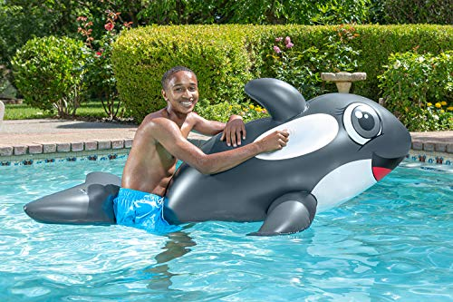 Poolmaster Jumbo Whale Rider Inflatable Swimming Pool Float