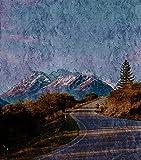 Pintar por Numeros para Adultos Niños Camino de montaña, Cima de la montaña, árboles Números con Pinceles y Pinturas Decoraciones para el Hogar 40x50cm Sin Marco
