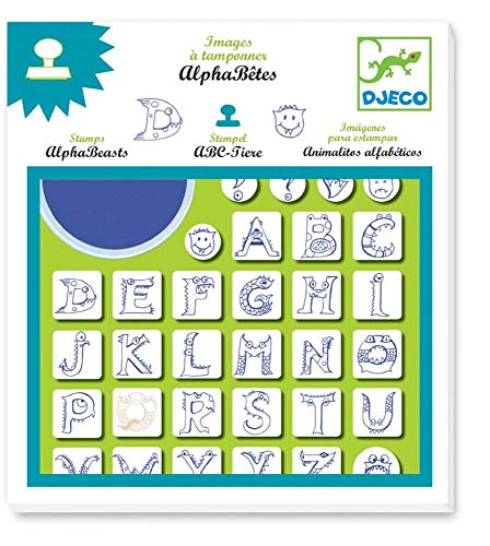Djeco 8918 Kreativset Stempel ABC-Tiere