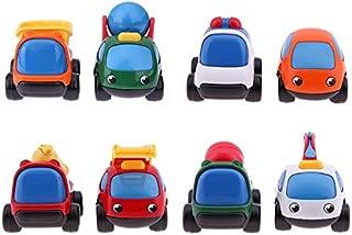GreenSun TM 2pcs Mini Cartoon Engineering Truck Kids Educational Gifts Toy Car Model Boy Favorite Educational Toys Mini Model
