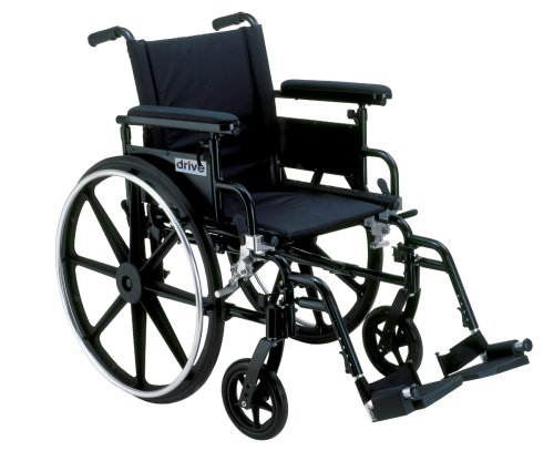 Drive Viper Deluxe High Strength, Lightweight, Dual Axle 18 ' Wheelchair with Flip Back Desk Arms *Free Home Delivery!