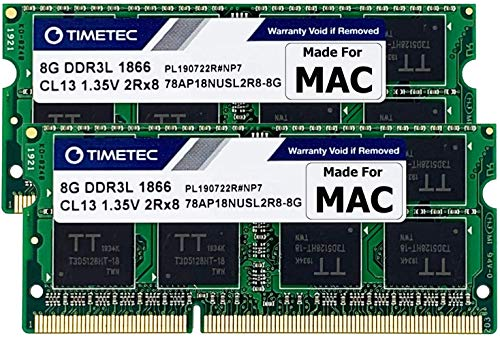 Timetec Hynix IC 16GB Kit (2x8GB) DDR3 PC3-14900 1866MHz compatibile con iMac 17,1 (16GB Kit (2x8GB))