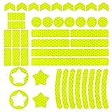 AODOOR Juego de 42 pegatinas reflectoras para bicicleta, autoadhesivas, reflectantes, para cochecito, bicicleta y cascos (altamente reflectante)