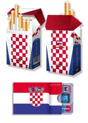 KROATIEN FAHNE/FLAGGE - EM-SET - 1x cardbox (Kartenhülle, Ausweishülle, Führerscheinhülle) UND 1x indo slipp (Hülle für Zigarettenschachteln) im SET