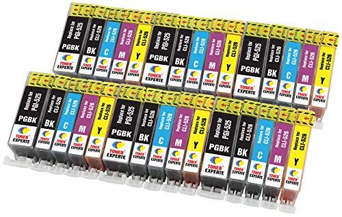 PGI-525 CLI-526 TONER EXPERTE 30 XL Cartuchos de Tinta compatibles con Canon PIXMA MG5350 MG5250 MG5150 MG6150 MG6250 iP4850 iP4950 MX895 MX885 MX715 iX6550 MG8150 MG8250 | Alta Capacidad