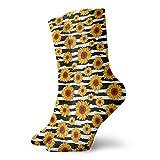 Ahdyr Calcetines unisex de longitud media, patrón de girasoles de verano Calcetines informales divertidos para botas deportivas, senderismo, correr, etc.