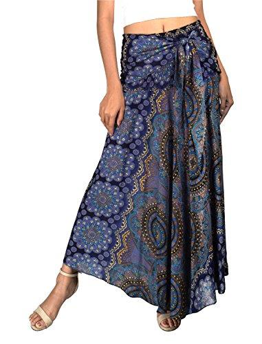 Joob Joob 2-in-1 Long Wrap Skirt or Midi Dress - Boho Skirt for Any Occasion - Maxi Skirt for Summer