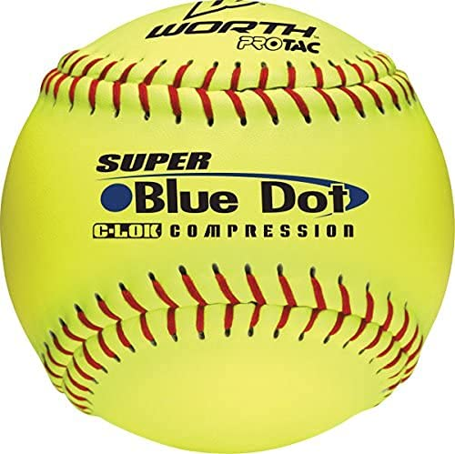 Worth 12-Inch Slowpitch YS2RS Protac Non-InchStamped ASA Ball ( Pack Of 12 )