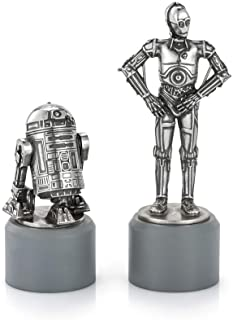Royal Selangor Hand Finished Star Wars Collection Pewter R2-D2 & C-3PO Knight Chess Piece Pair Gift