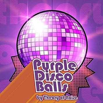 Purple Disco Balls