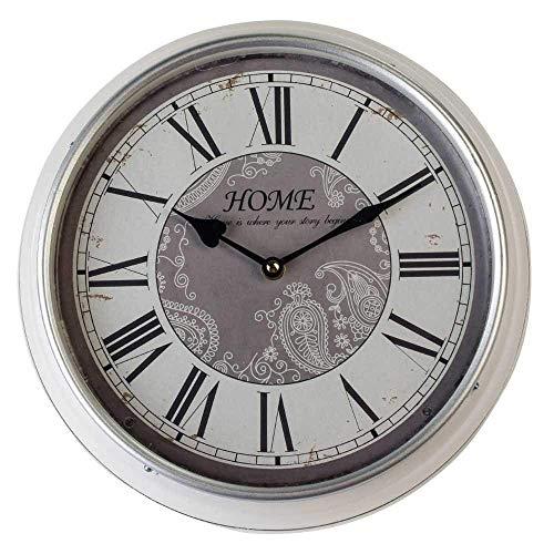 Nostalgische Wanduhr | Wand Uhr im Retrostil 31 cm | Stilechte Wanduhr ideal im Wohnzimmer