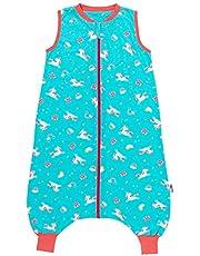 Schlummersack Saco de dormir con pies sin forro para el verano, 0,5 tog, diseño de unicornio, 110 cm
