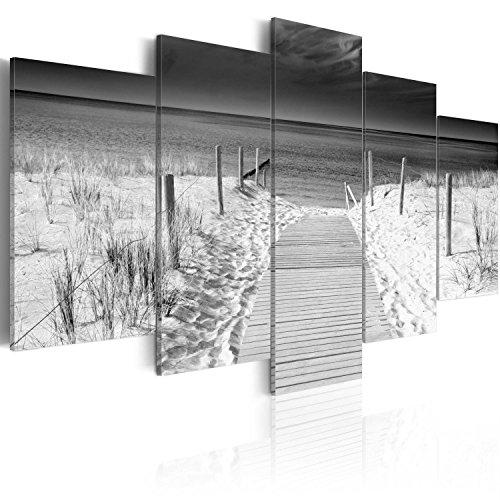 murando Cuadro en Lienzo Playa Mar 200x100 cm Impresión de 5 Piezas Material Tejido no Tejido Impresión Artística Imagen Gráfica Decoracion de Pared Paisaje Naturaleza c-B-0051-b-p