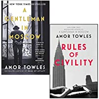 A Gentleman in Moscow & Rules of Civility By Amor Towles 2 Books Collection Set 9124119474 Book Cover