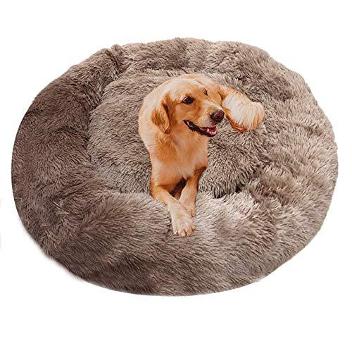Haustierbett mit kuscheligem Plüsch, Deluxe Donut Cuddler Hundebett, Hundekissen Katzenbett Hundehöhle Hundesofa für Große Hunde und Katzen