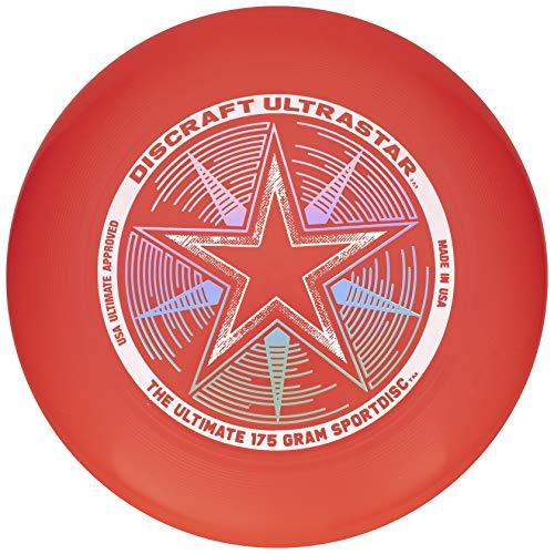 Discraft 175 Gram Ultra Star Sport Disc 175g Ultra Star Sport Disc Bright Red