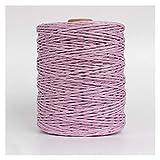 SASCD 1Roll = 280m Hilado de Paja de Raffia Natural para la Mano de Verano Punto Crochet Hat Bolso Bolso Cestas de Cojín Material de Tejer Hilo Colorido (Color : G9)