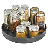 mDesign Plato giratorio para estantes de cocina – 22,9 cm de diámetro –...