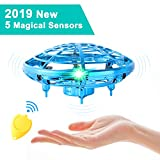 Flying Toys for Kids Mini UFO Drone Hand Operated Drones with 2 Speed, Flying Ball...