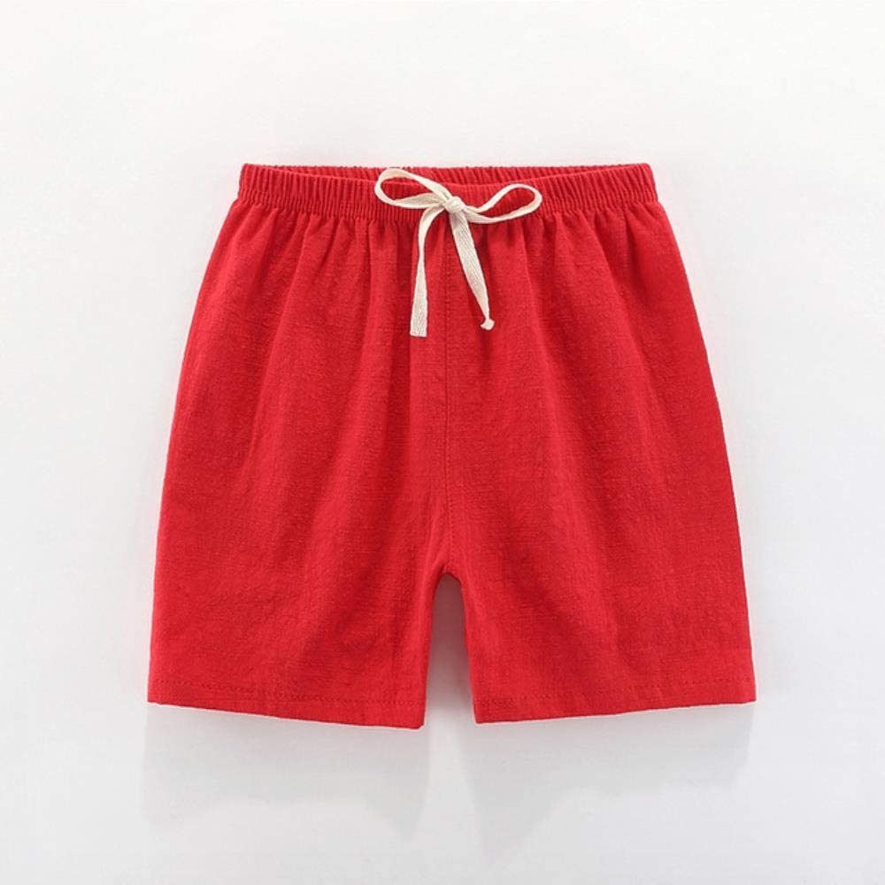SevenLeo ChildrenS Shorts Boys Summer Short Pants Beach Shorts Kids Girls Shorts Casual Soft Breathable Linen 100-140Cm