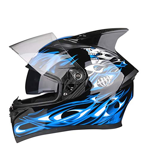 DOT Full Face MTB Fahrradhelm mit Visier Motocross Off Road Touring Racing Helm Helm mit Horn