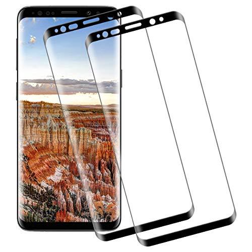 Panzerglas für Samsung Galaxy S9 Plus,3D Ultra-Clear,9H Härte Anti-Kratzen Panzerglasfolie,Anti-Öl Glasfolie,Displayschutzfolie-2 Stück