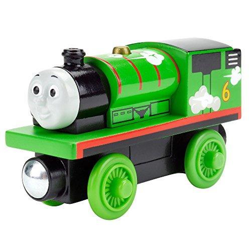 Thomas & Friends Fisher-Price Rouleau de chemin de fer en bois et sifflet Percy