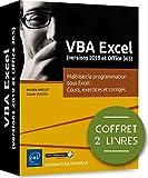 VBA Excel (version 2019 et office 365) Coffret de 2 livres : Maîtrisez la programmation sous Excel : Cours, exercices et corrigés