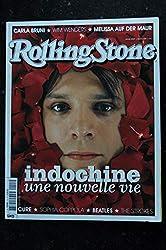 ROLLING STONE 2004 COVER INDOCHINE NICOLA SIRKIS Nelle VIE A PERFECT CIRCLE THE CURE CARLA BRUNI BEATLES BENICIO DEL TORO