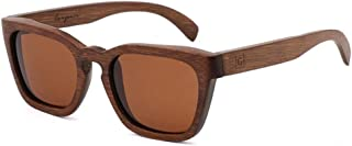 LUKEEXIN Men's/Women's Fashion Bamboo Wood Polarized Sunglasses, UV Protection (Color : Brown)