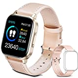 Smart Watch, 1.4' Touch Screen IP68 Activity Tracker Smartwatch for Men with All-Day Heart Rate Monitor Fitness Tracker, for iOS and Android Phones (Pink)