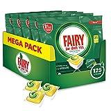 Fairy Original, Pastillas Lavavajillas, 125 cápsulas (5 x 25) Limón, Mega Pack