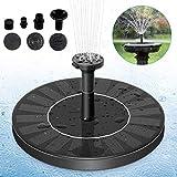 DARMAI Solar Fountain Pump, Free Standing 1.4W Bird Bath Fountain Pump for Garden and Patio, Solar Panel Kit Water Pump