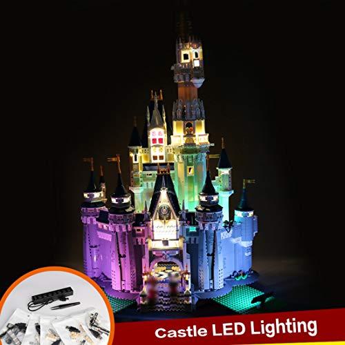 TETAKE Juego de iluminación LED para Lego Creator 71040, el castillo de Disney (no incluye el modelo Lego).