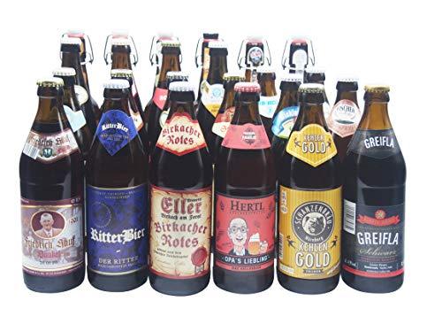 Bierwohl I Geschenkidee I Das ganz Große I Bierset mit diversen Biersorten aus Franken und Umgebung I 24x 0,5l